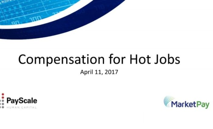 2017 compensation for hot jobs