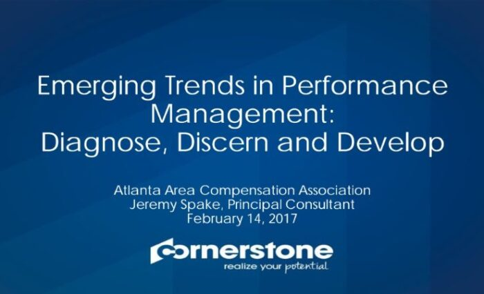 2017 emerging trends in performance management